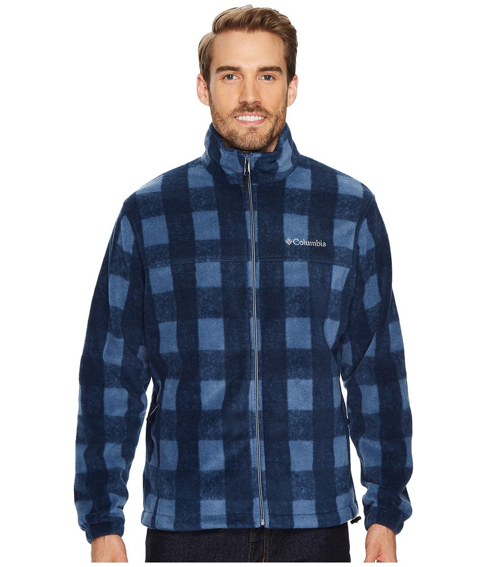 Columbia - Steens Mountaintm Print Jacket (Dark Mountain Plaid) Men's Coat