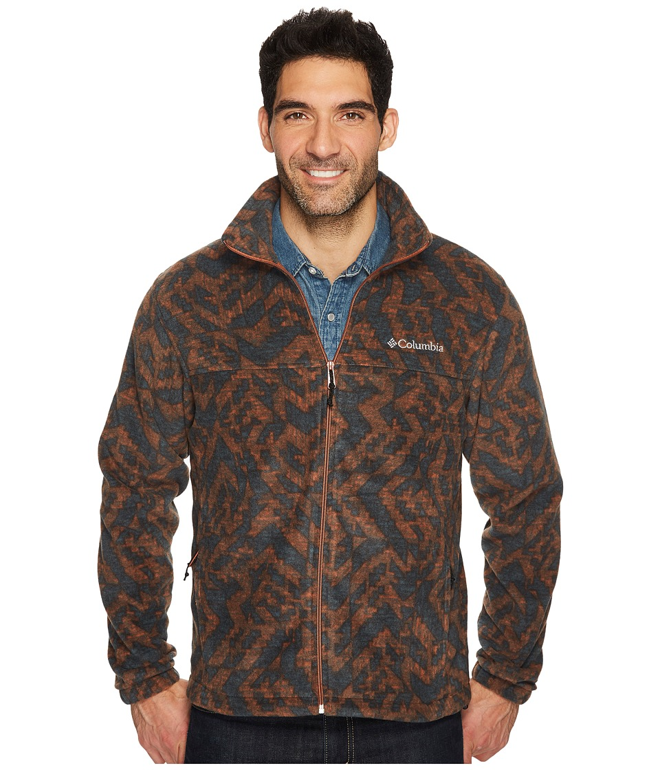 Columbia - Steens Mountain Print Jacket (Rustic Brown Galicut) Men's Coat
