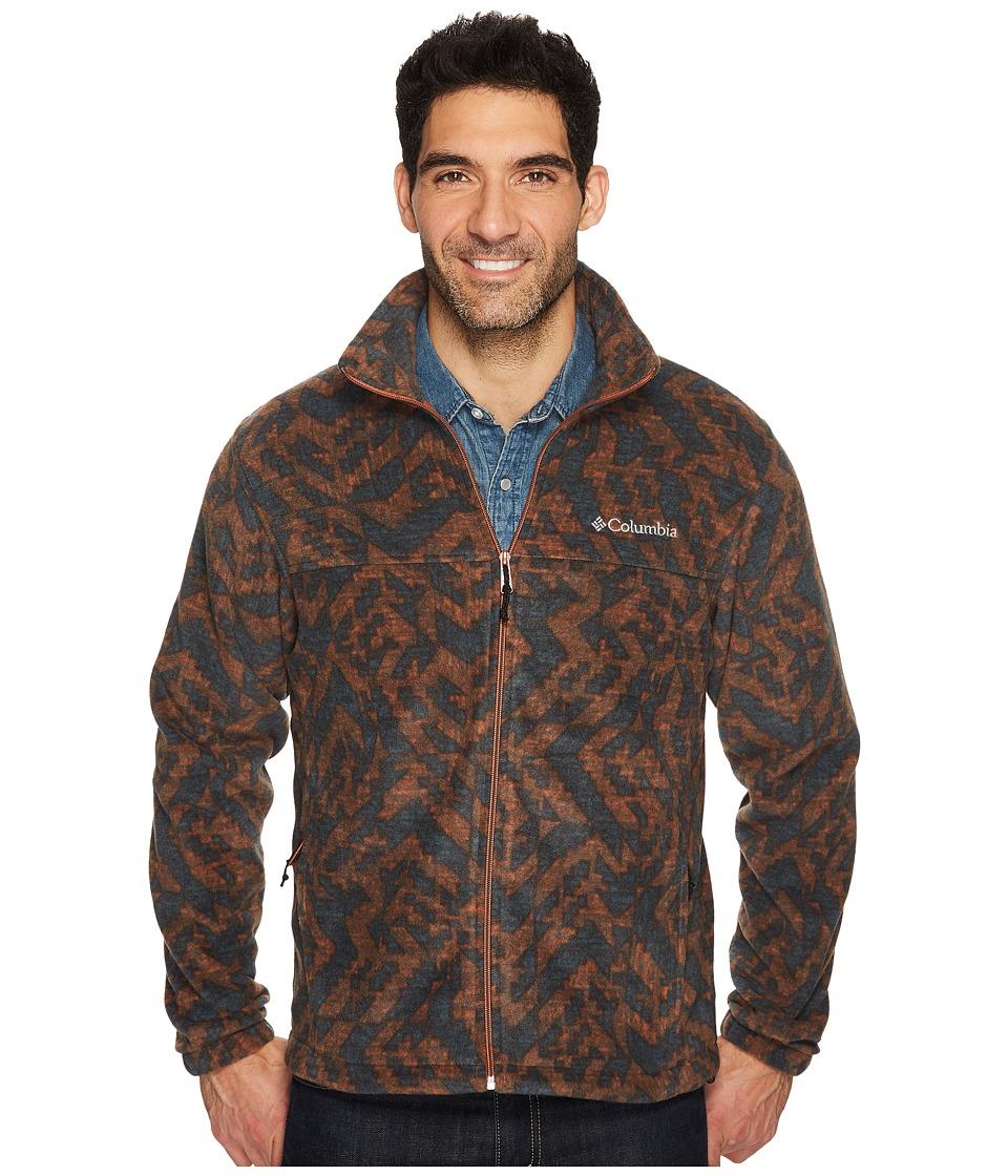 Columbia - Steens Mountain Print Jacket (Rustic Brown Galicut) Men's Coat