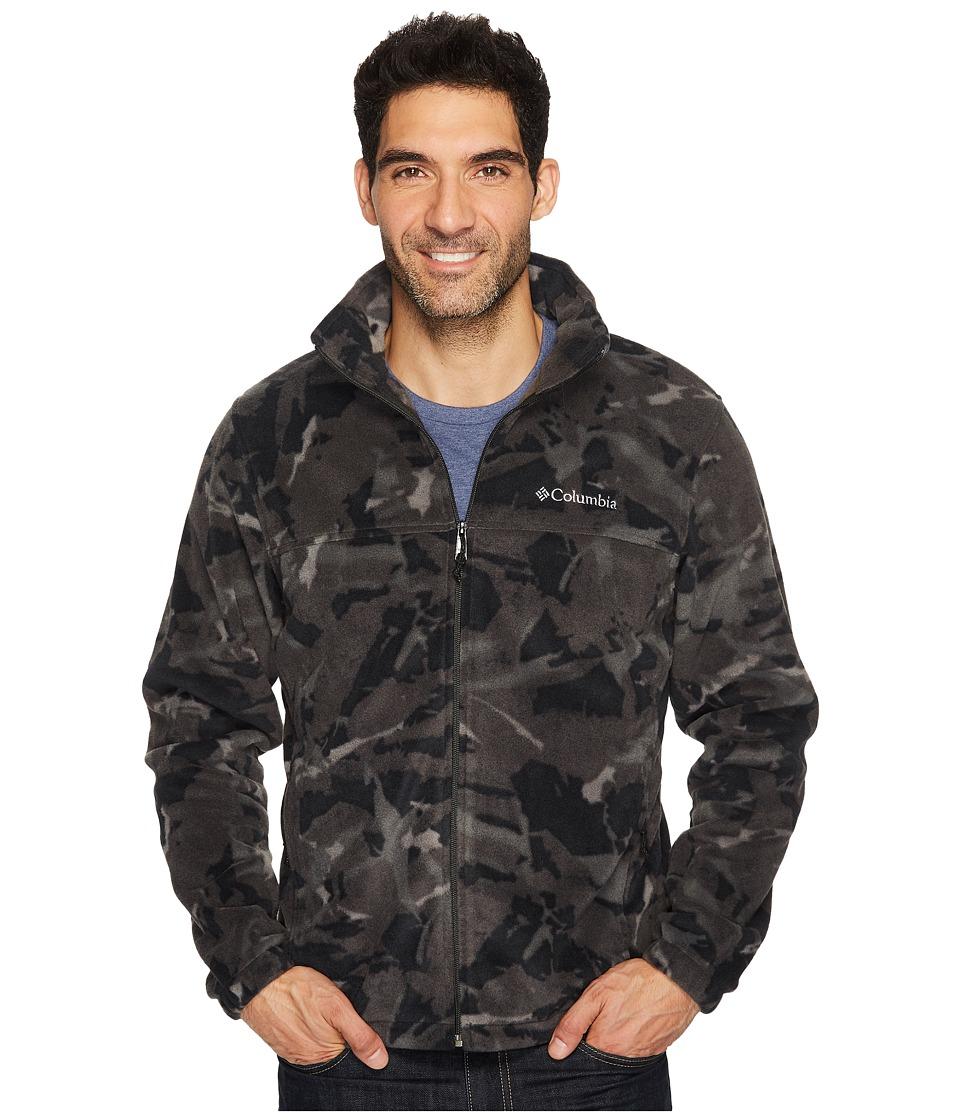 Columbia - Steens Mountain Print Jacket (Black Woodsy) Men's Coat