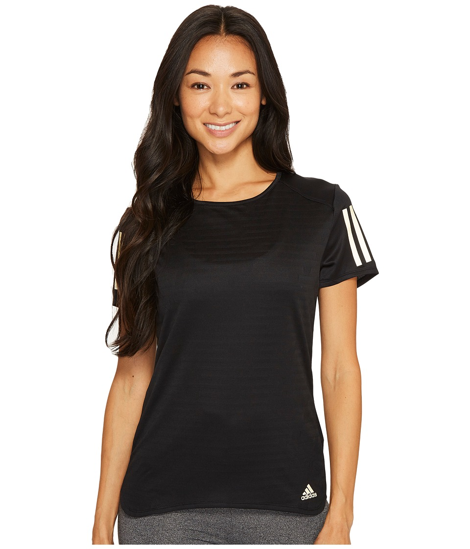 adidas Response Short Sleeve Gold Tee (Black/Matte Gold) Women