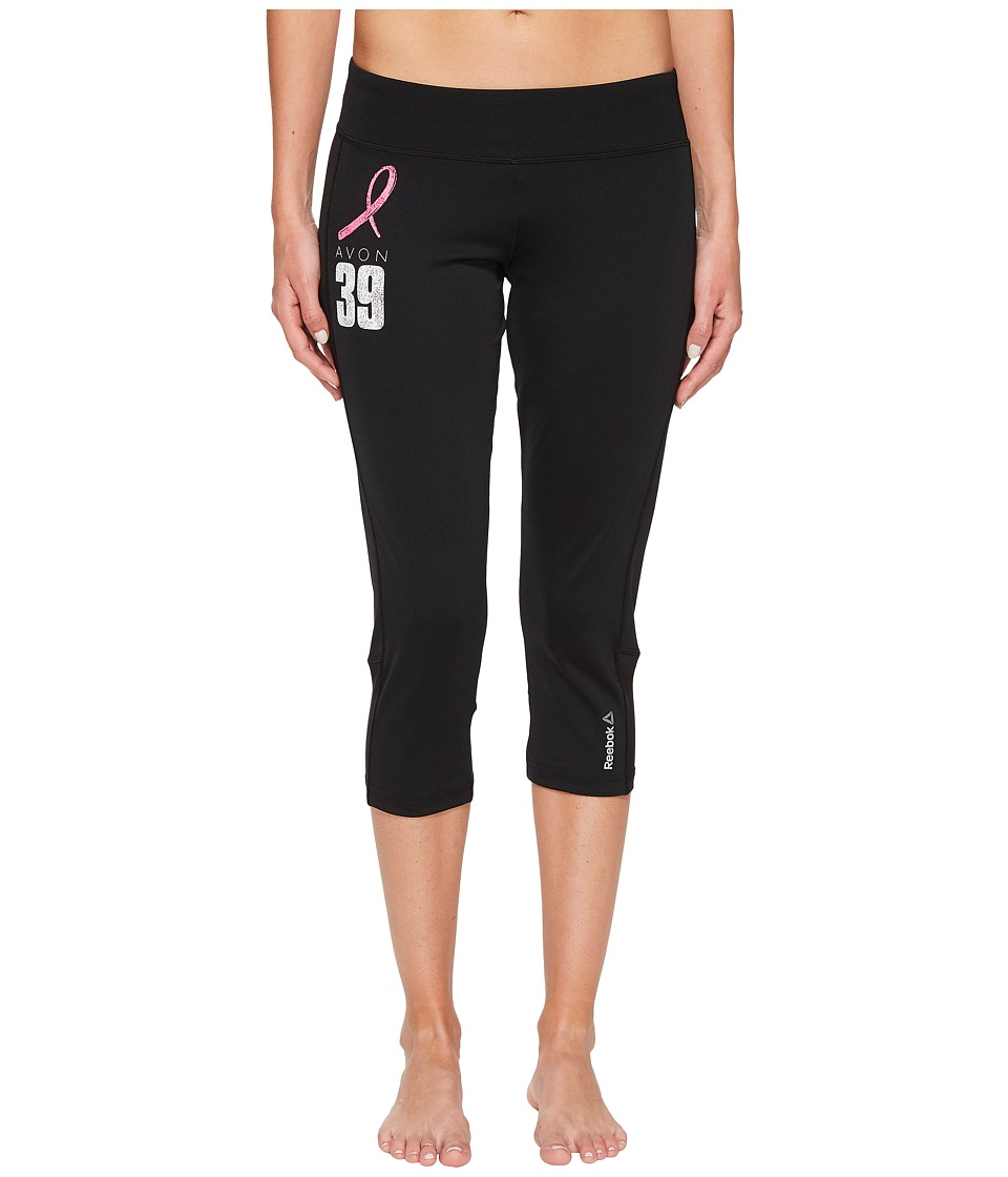 Reebok Avon Workout Ready Capris Color Block (Black) Women