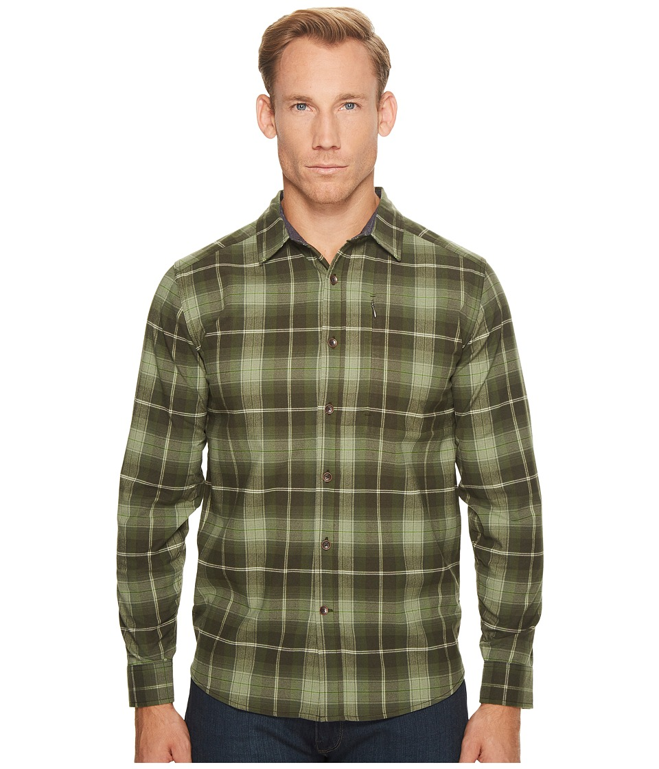 Royal Robbins Merinolux Flannel Long Sleeve Shirt (Bayleaf) Men