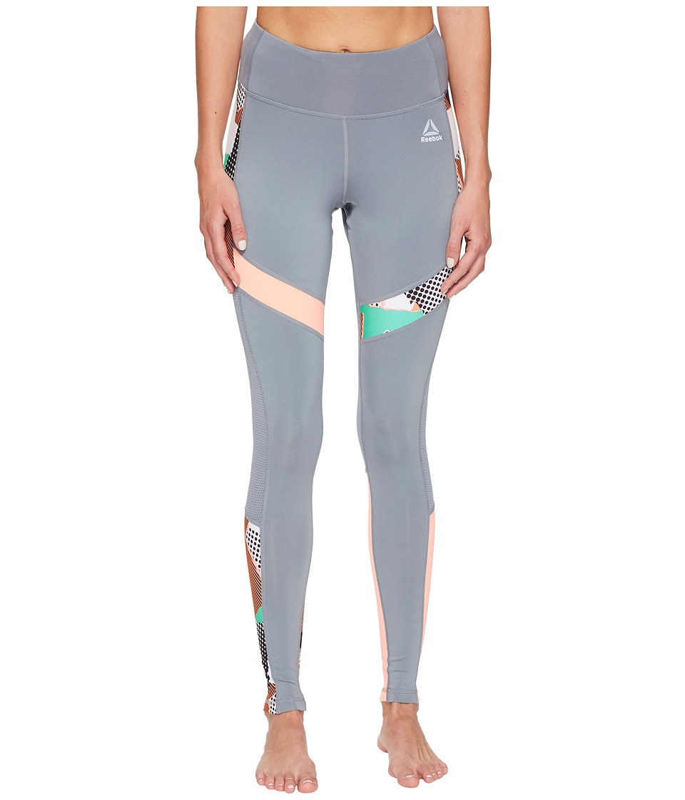 Reebok - Running Tights - Geometric (Asteroid Dust) Women's Workout