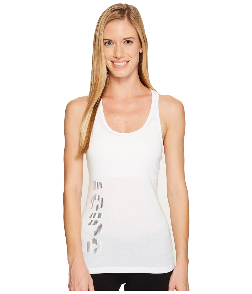 ASICS - Graphic Tank Top (Real White) Women's Workout