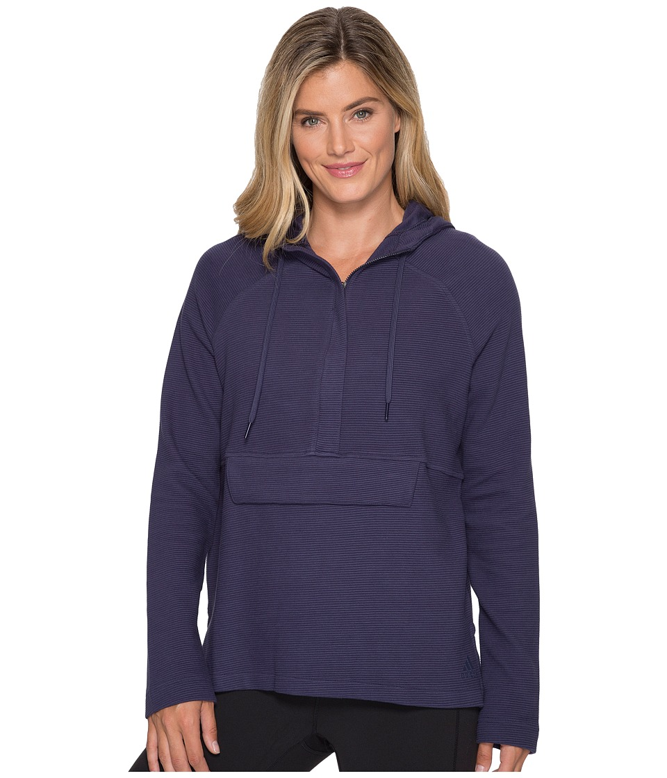adidas - Fleece Full Zip Hoodie (Noble Ink) Women's Sweatshirt