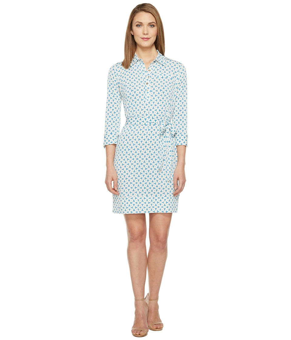 Donna Morgan - 3/4 Sleeve Jersey Shirtdress (Star/Ivory) Women's Dress