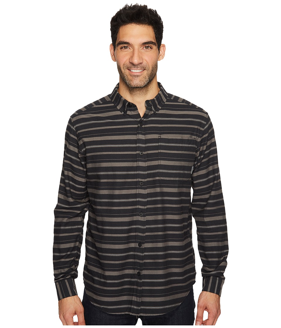 Columbia - Out and Back II Long-Sleeve Shirt (Black Stripe) Men's Long Sleeve Pullover