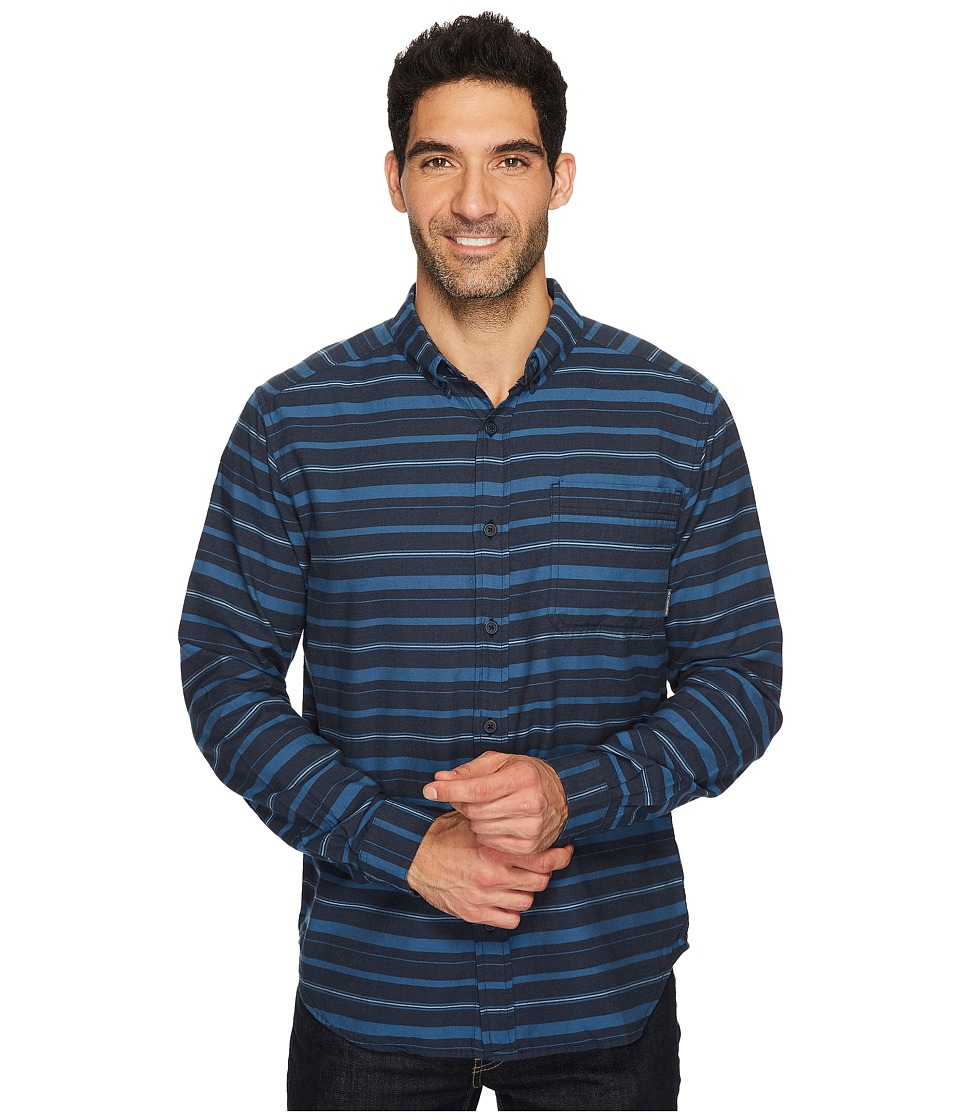 Columbia - Out and Back II Long-Sleeve Shirt (Phoenix Blue Stripe) Men's Long Sleeve Pullover