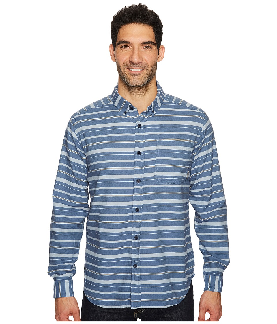 Columbia - Out and Back II Long-Sleeve Shirt (Dark Mirage Stripe) Men's Long Sleeve Pullover