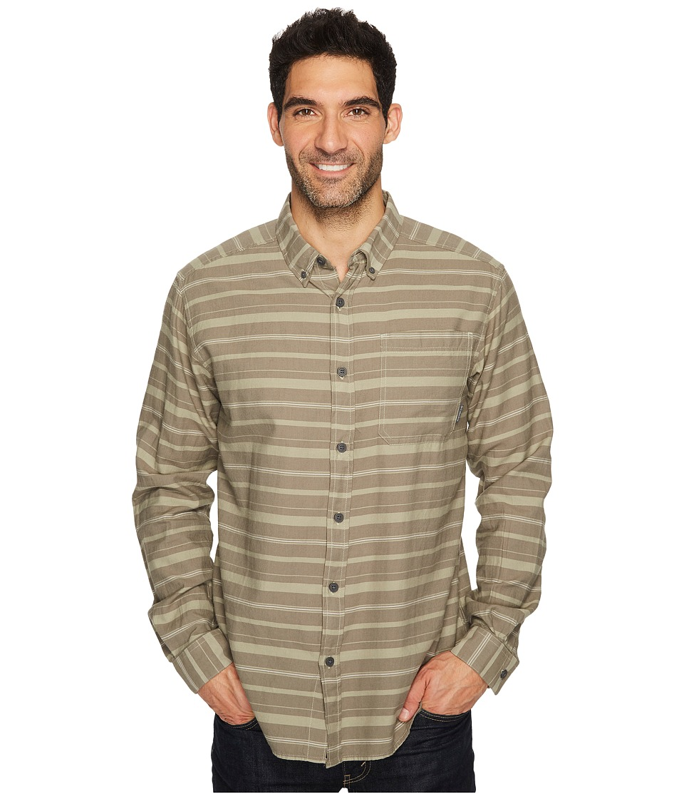 Columbia - Out and Back II Long-Sleeve Shirt (Smokey Sage Stripe) Men's Long Sleeve Pullover