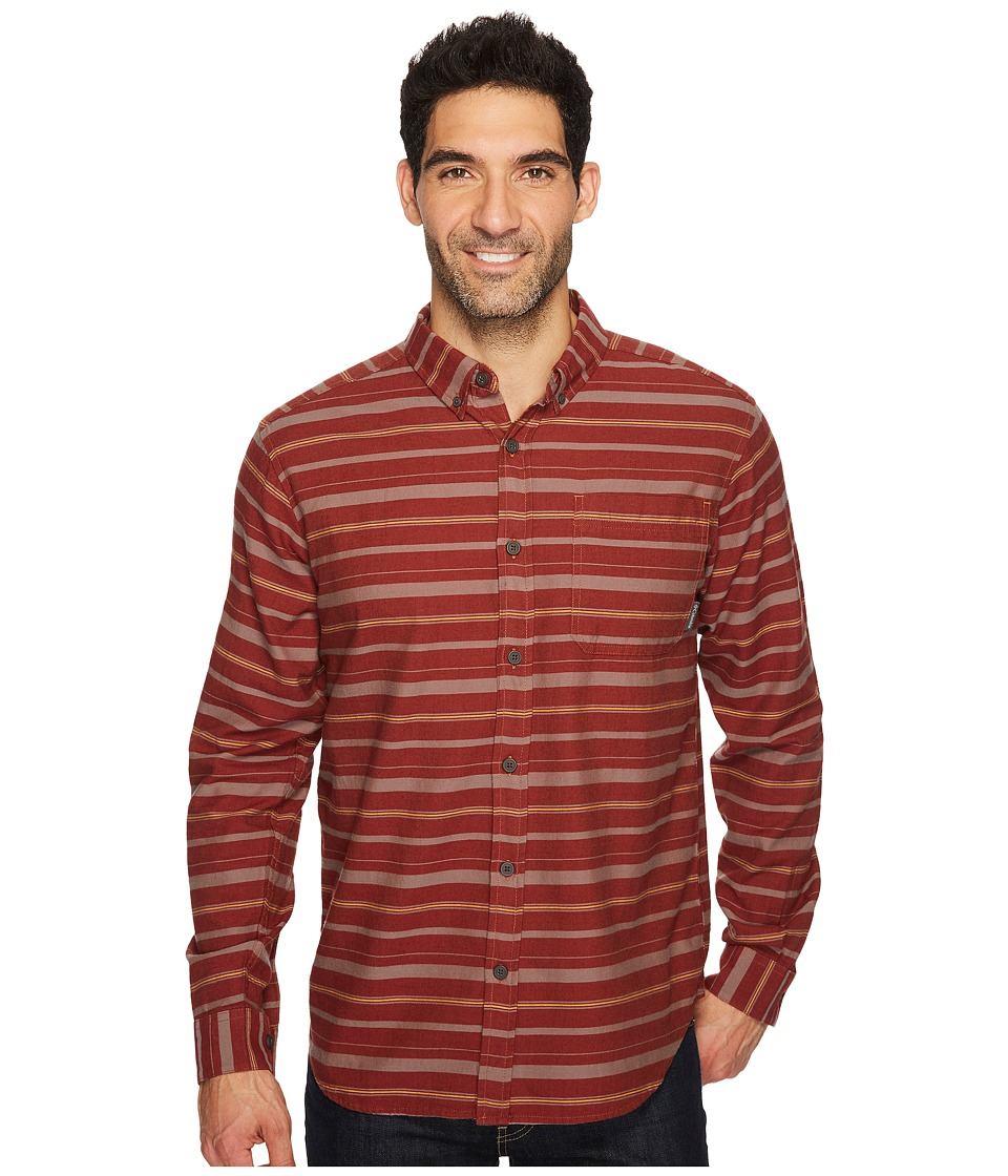 Columbia - Out and Back II Long-Sleeve Shirt (Rustic Brown Stripe) Men's Long Sleeve Pullover