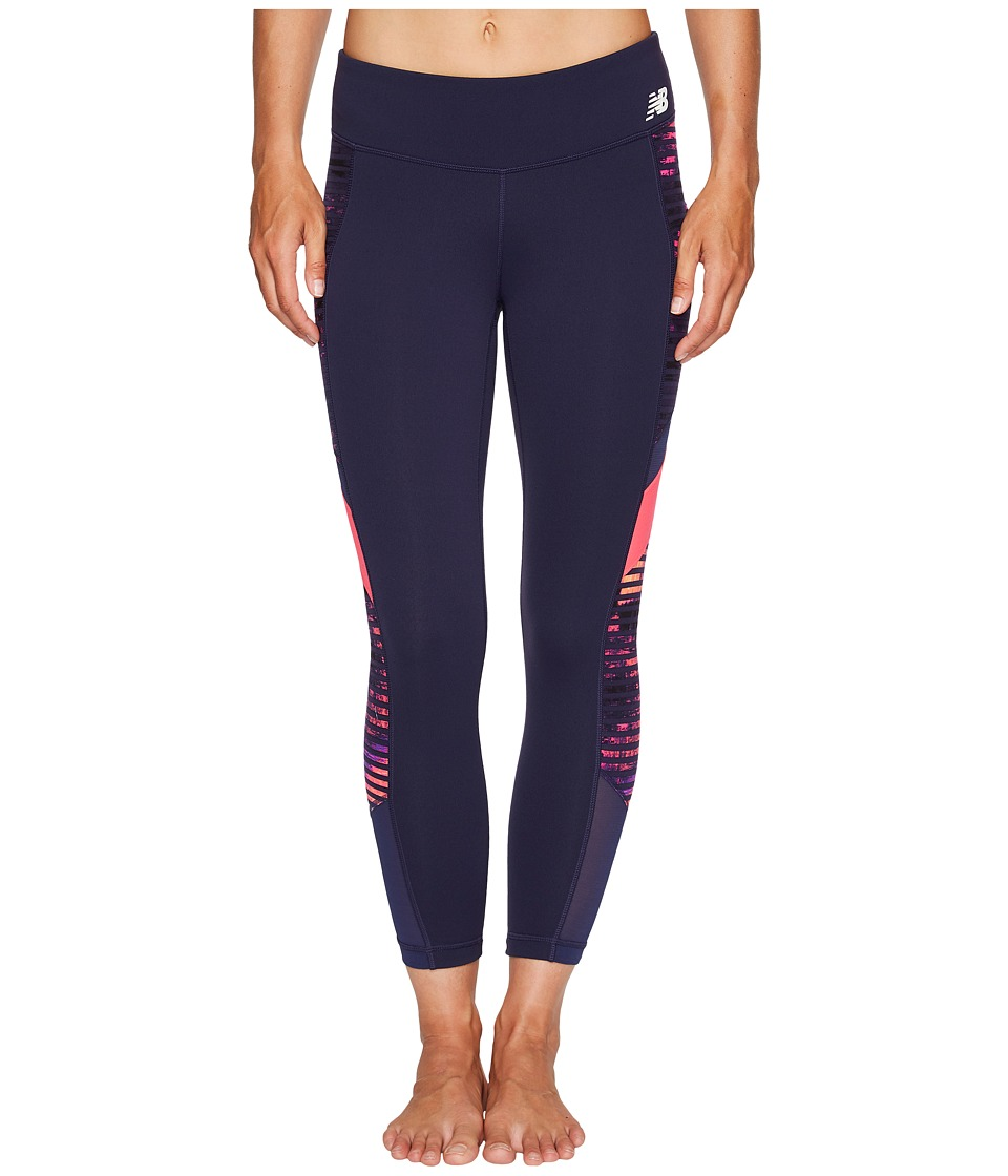 New Balance - Premium Performance Crop (Striped Velocity) Women's Capri