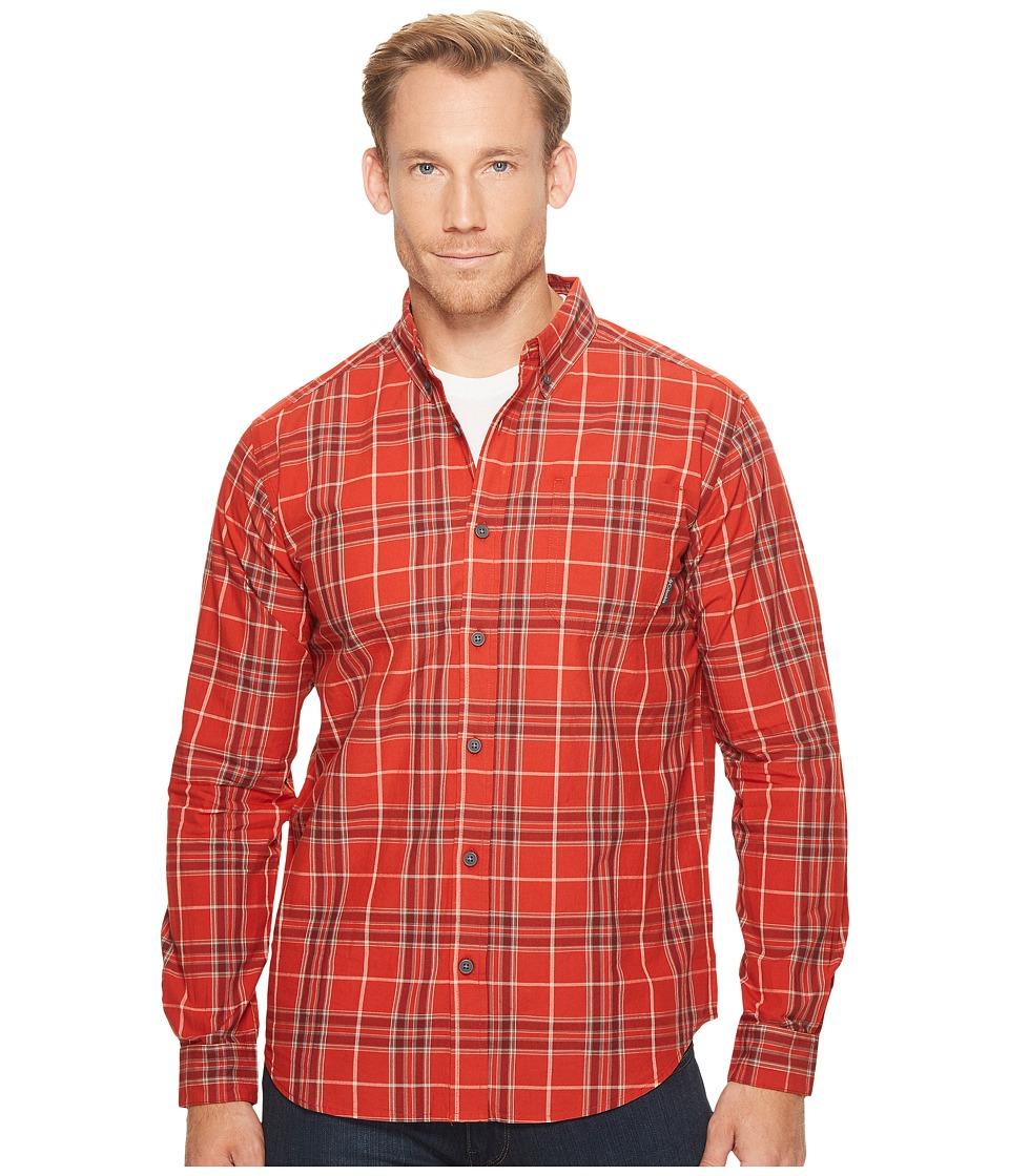Columbia - Rapid Riverstm II Long-Sleeve Shirt (Sail Red Plaid) Men's Long Sleeve Pullover