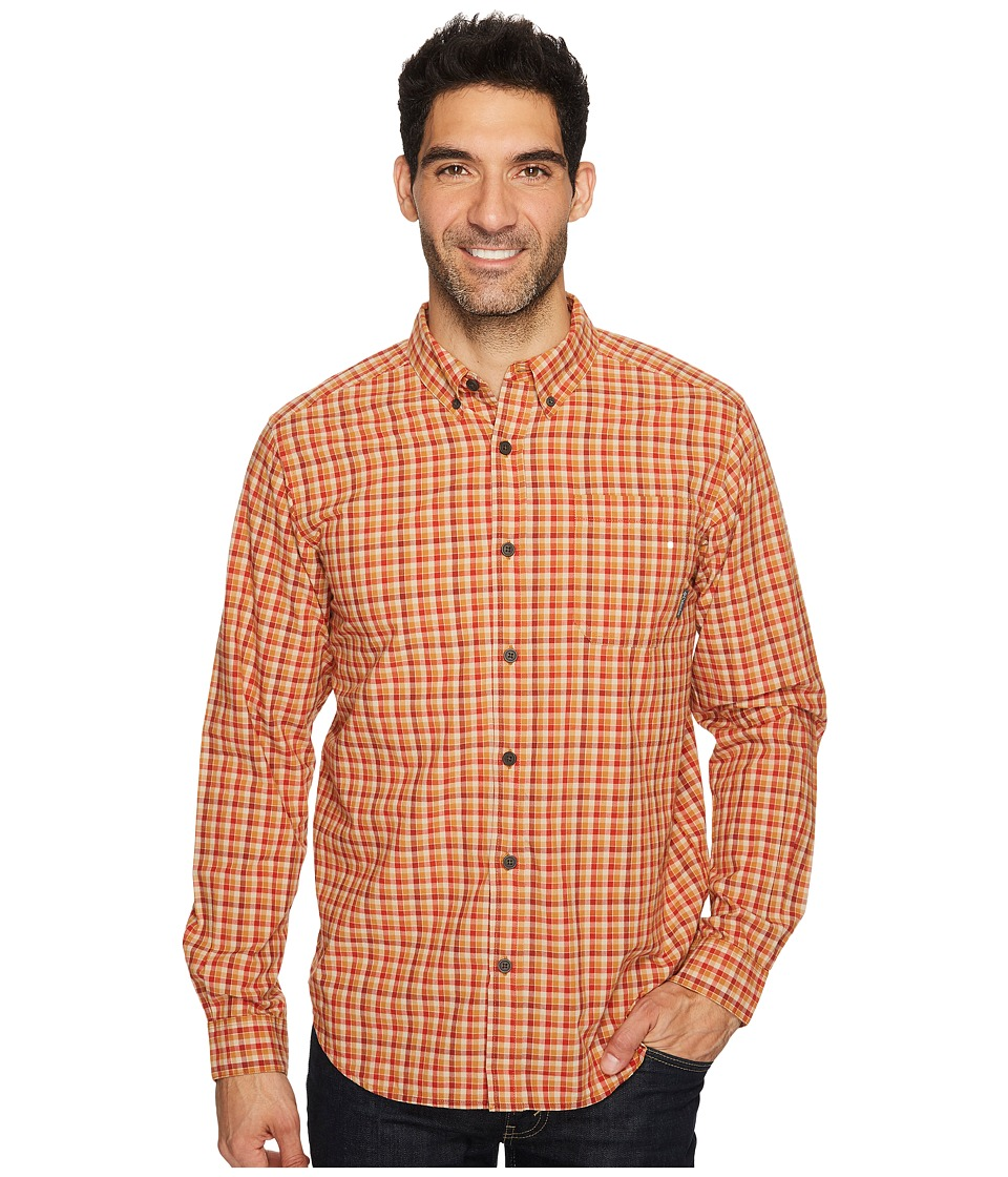 Columbia - Rapid Rivers II Long-Sleeve Shirt (Canyon Gold Mini Check) Men's Long Sleeve Pullover