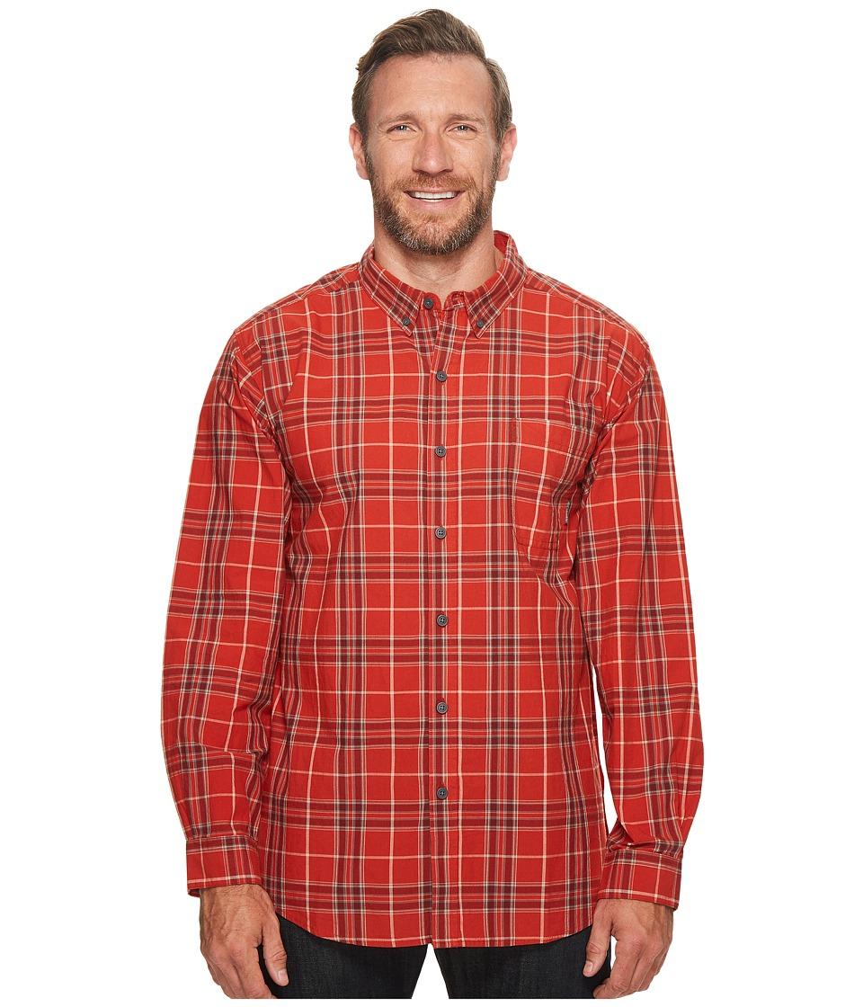 Columbia - Big Tall Rapid Riverstm II Long Sleeve Shirt (Sail Red Plaid) Men's Long Sleeve Button Up