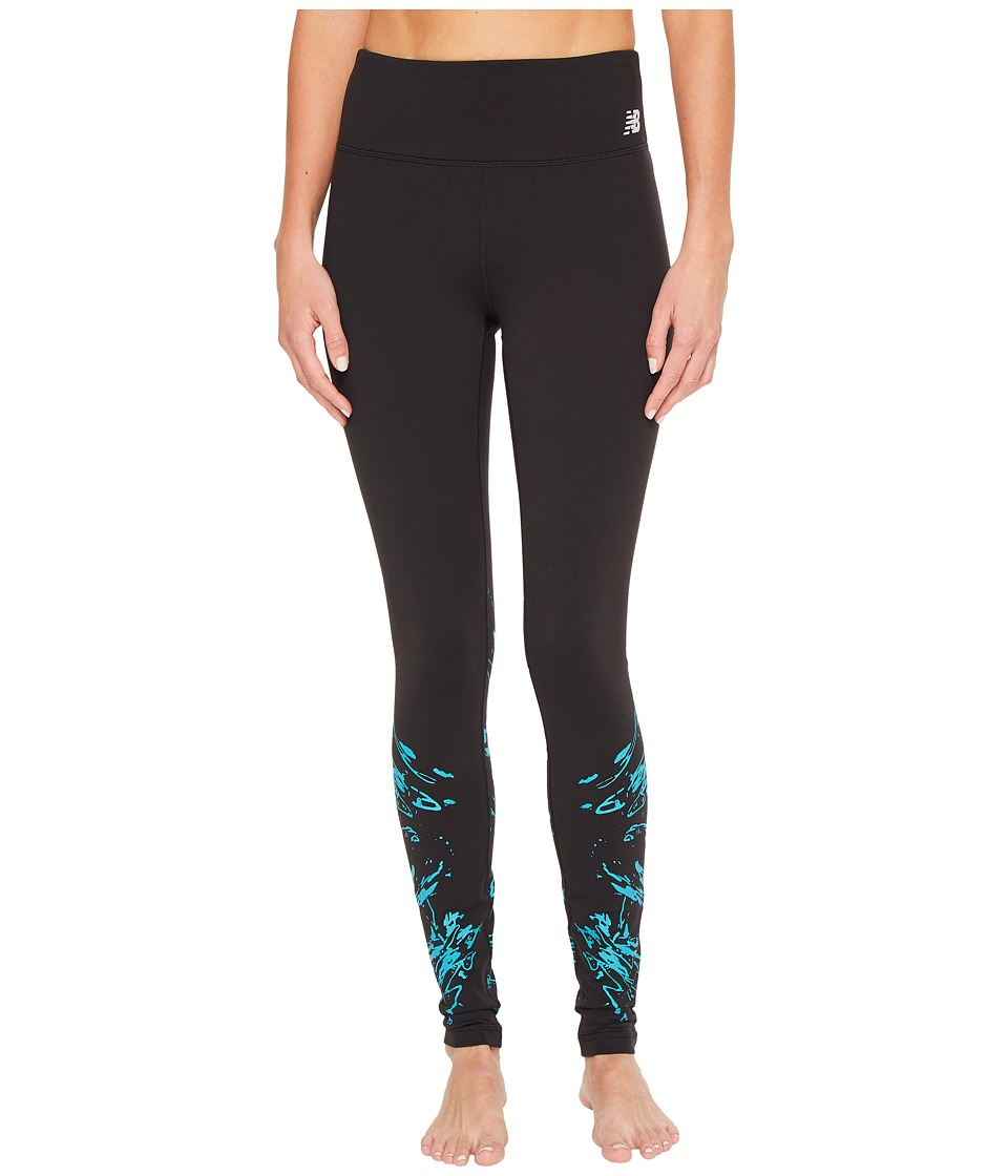 New Balance High-Rise Tights Printed (Black/Pisces Print) Women