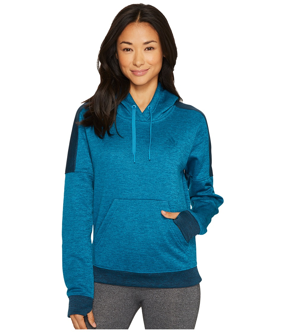 adidas Team Issue Fleece Pullover Hoodie (Mystery Petrol Melange/Petrol Night Melange/Petrol Night) Women
