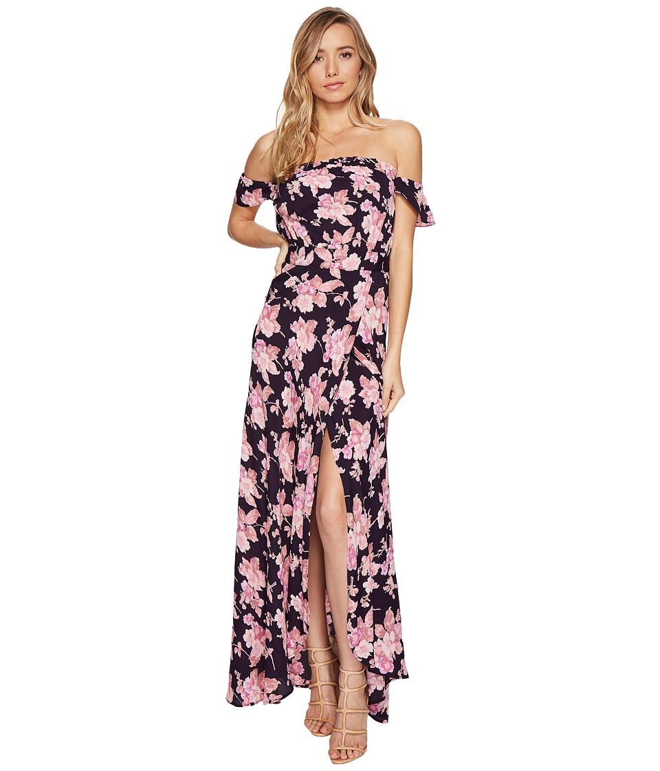 Flynn Skye - Bella Maxi Dress (Black Bloss) Women's Dress