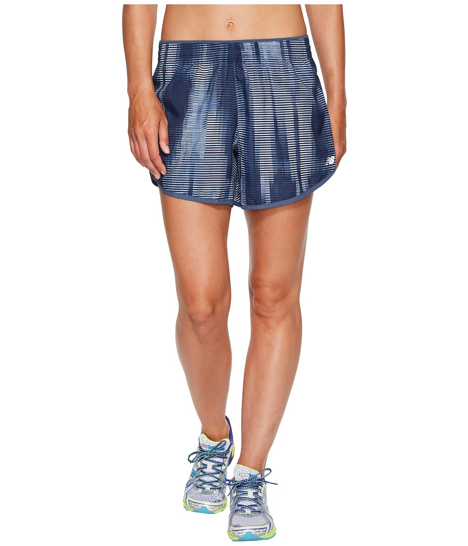 New Balance - Accelerate 5 Shorts Printed (Black Accelerated Stripe) Women's Shorts