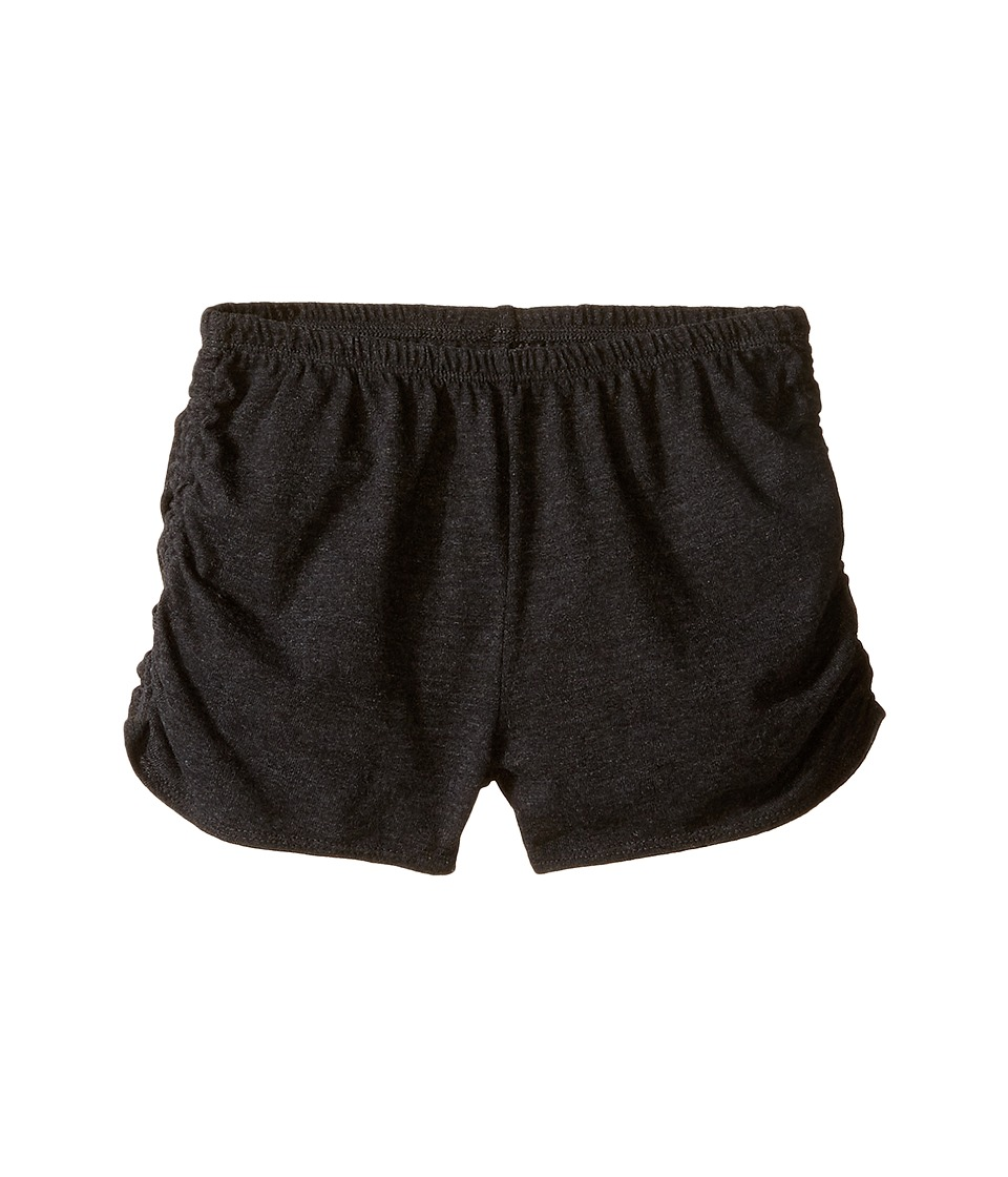 Chaser Kids - Super Soft Tri-Blend Side Shirred Shorts (Big Kids) (Black) Girl's Shorts