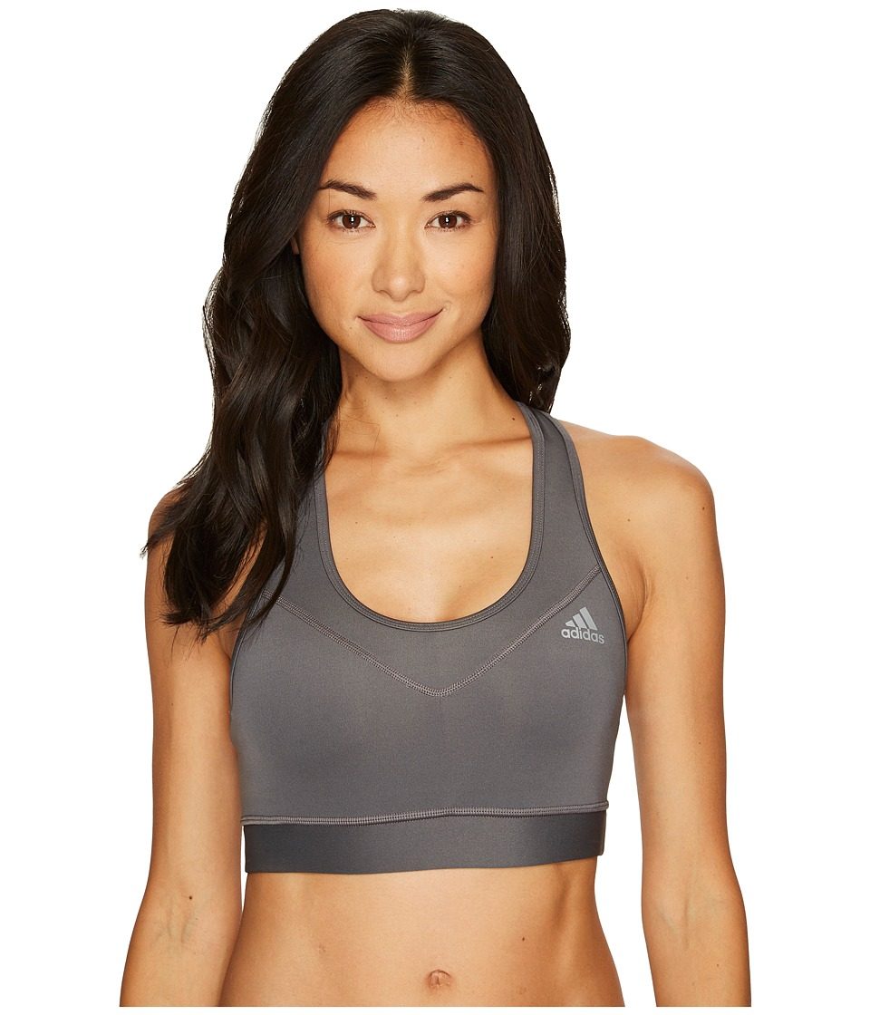adidas TechFittm Bra (Grey 5/Matte Silver) Women