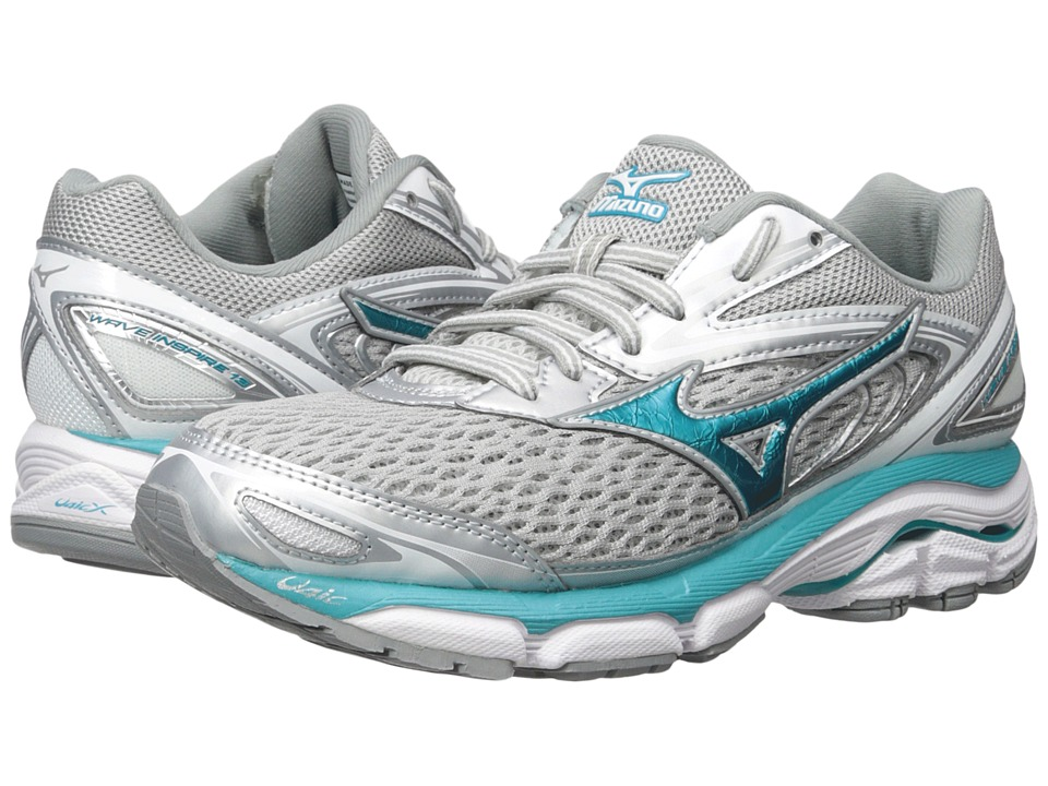 Mizuno Wave Inspire 13 (Silver/Tile Blue/Griffin) Women's Running Shoes