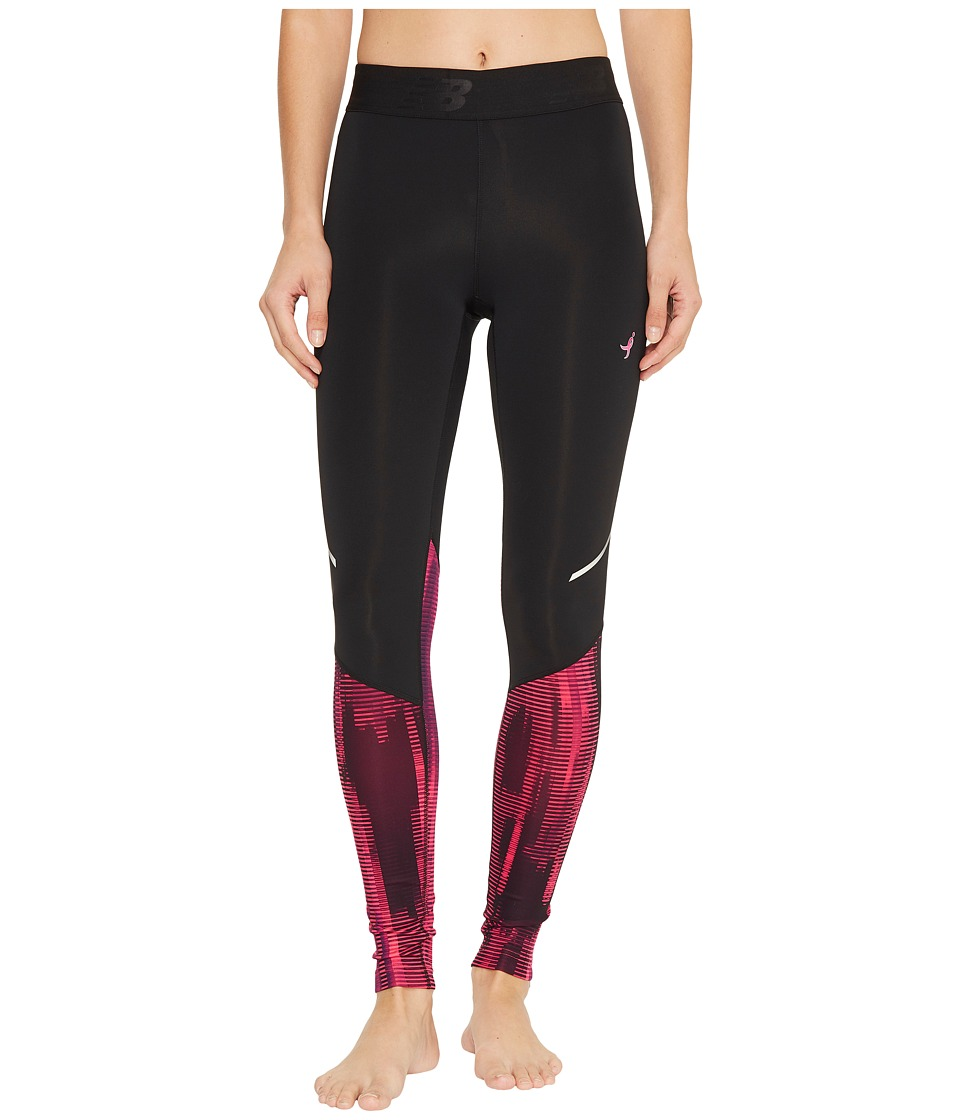 New Balance Accelerate Tights Printed (Alpha Pink) Women