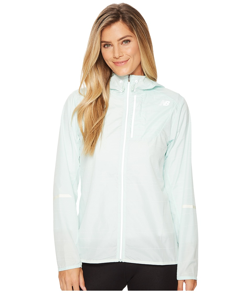 New Balance Reflective Lite Packable Jacket (Water Vapor) Women