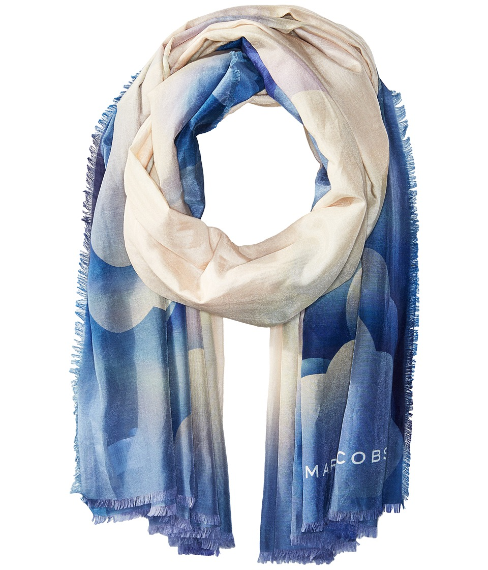 Marc Jacobs - Clouds Stole (Blue Multi) Scarves