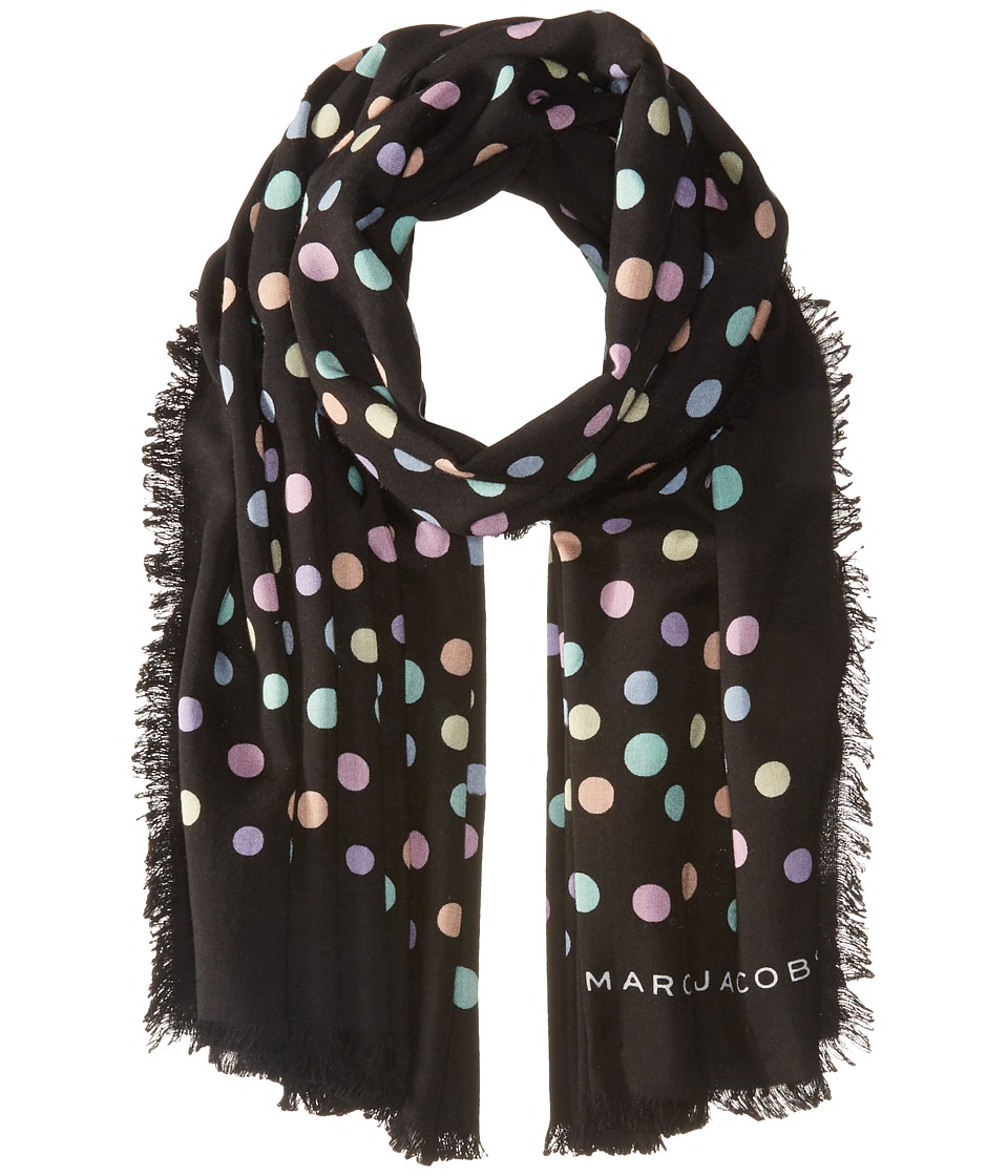 Marc Jacobs - Pastel Dot Large Stole (Black Multi) Scarves