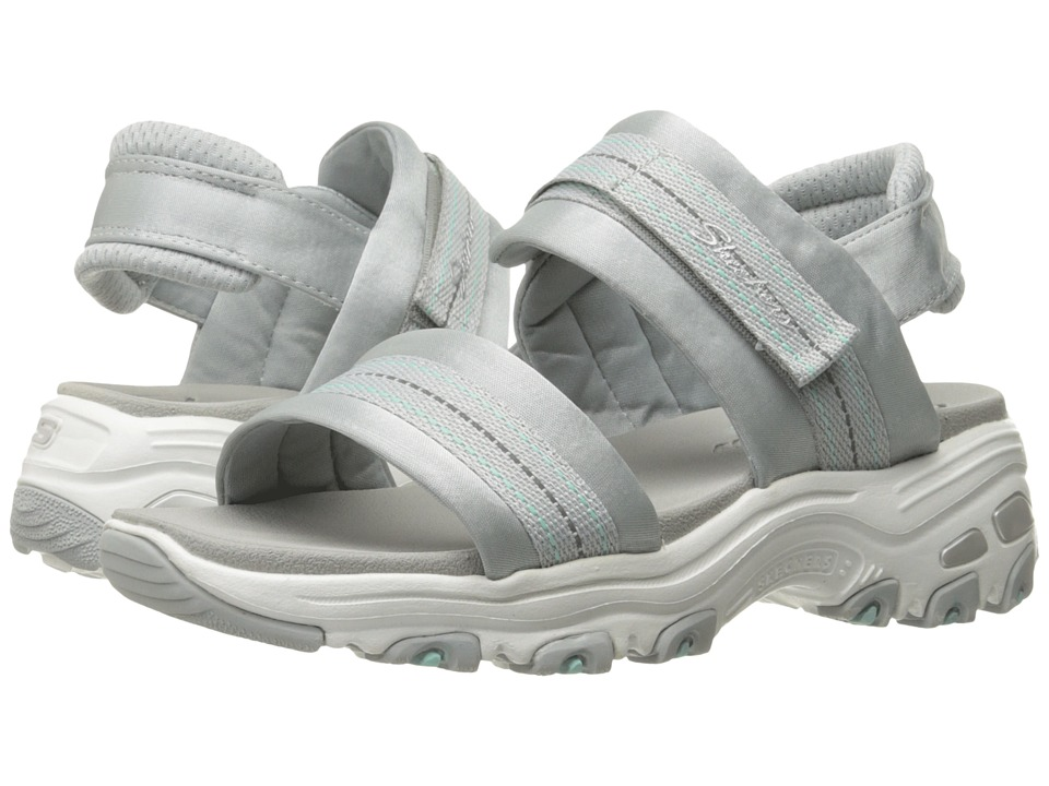 SKECHERS - D'Lites - Theories (Grey) Women's Sandals