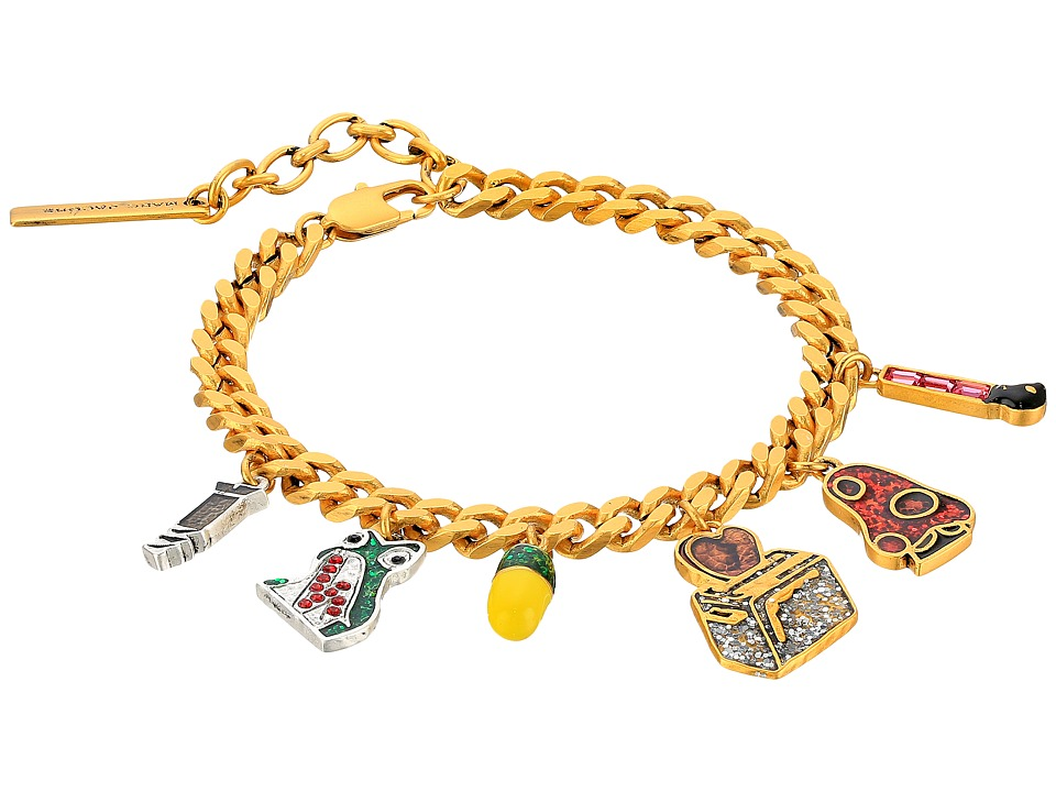 Marc Jacobs - Charms Wonderland Toast My Heart Charm Bracelet (Pink Multi) Charms Bracelet