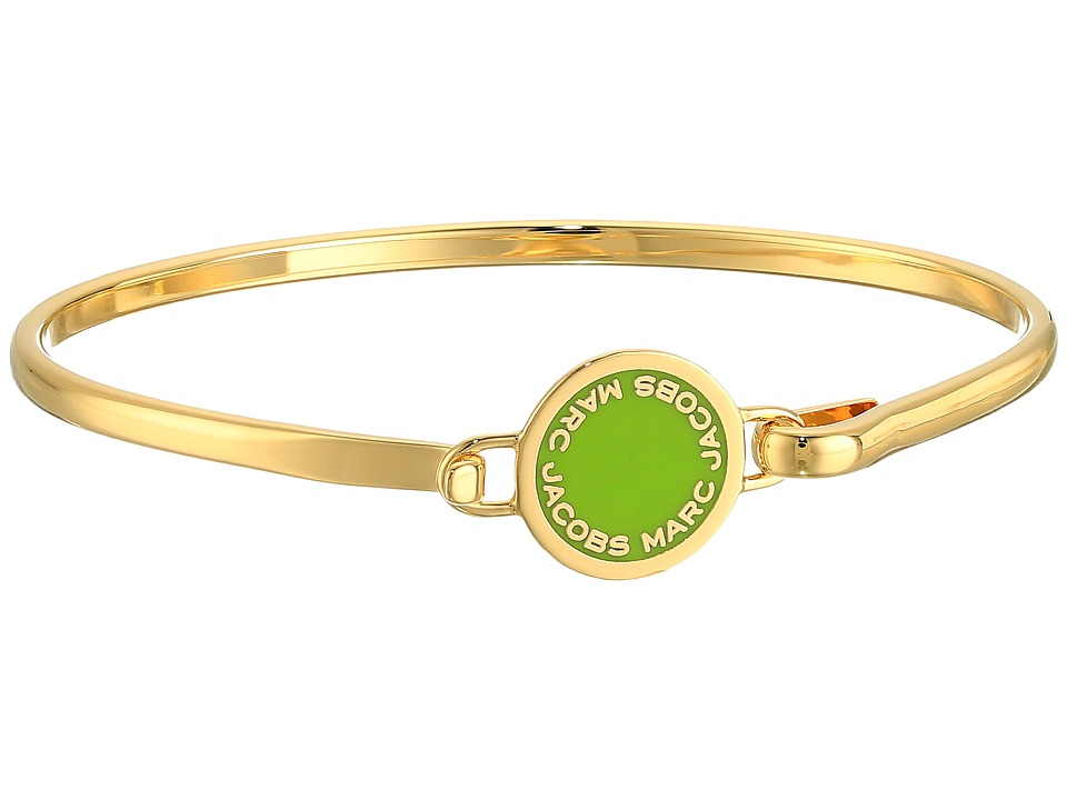 Marc Jacobs - Logo Disc Enamel Logo Disc Hinge Bracelet (Green) Bracelet
