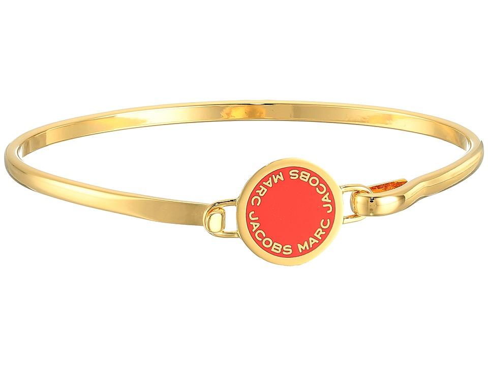 Marc Jacobs - Logo Disc Enamel Logo Disc Hinge Bracelet (Red) Bracelet