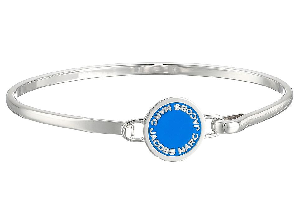 Marc Jacobs - Logo Disc Enamel Logo Disc Hinge Bracelet (Blue) Bracelet