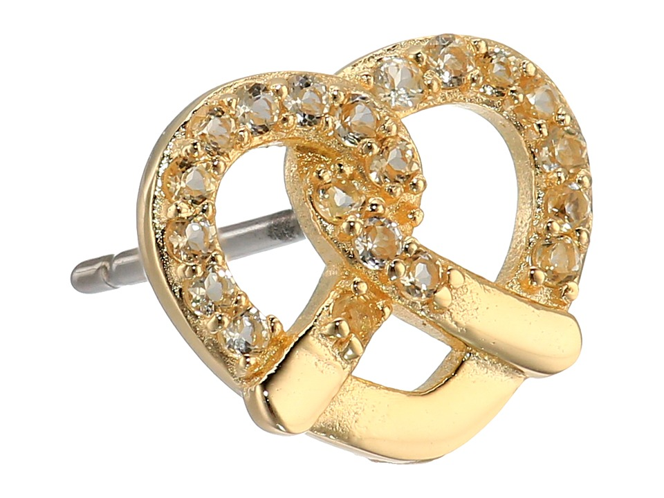 Marc Jacobs - Something Special Studs Pretzel Single Stud Earring (Citrine/Gold) Earring