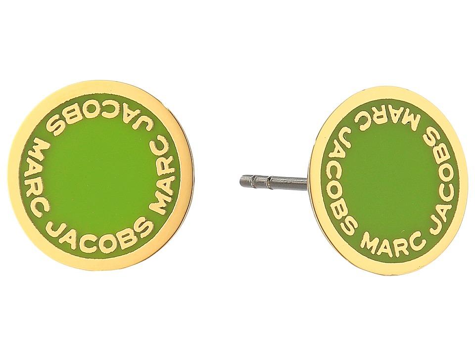 Marc Jacobs - Logo Disc Enamel Studs Earrings (Green) Earring