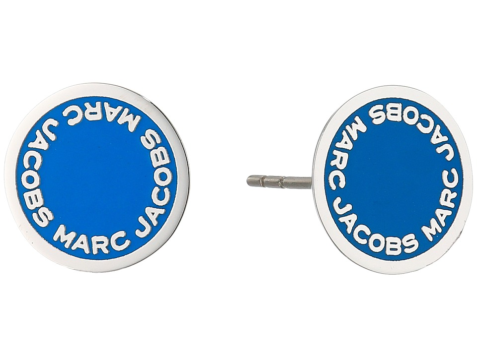 Marc Jacobs - Logo Disc Enamel Studs Earrings (Blue) Earring