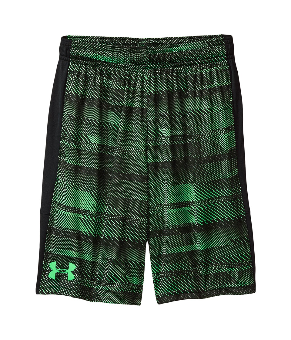 Under Armour Kids - Instinct Printed Shorts (Big Kids) (Lime Twist/Black/Lime Twist) Boy's Shorts
