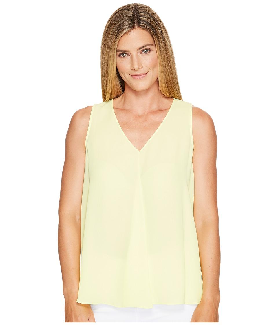 Vince Camuto - Sleeveless V-Neck Drape Front Blouse (Key Lime) Women's Blouse
