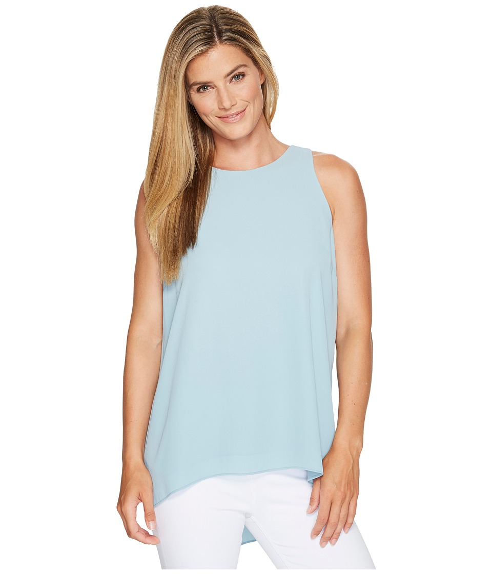 Vince Camuto - Sleeveless Pleat Back High-Low Hem Blouse (Aqua Sphere) Women's Blouse