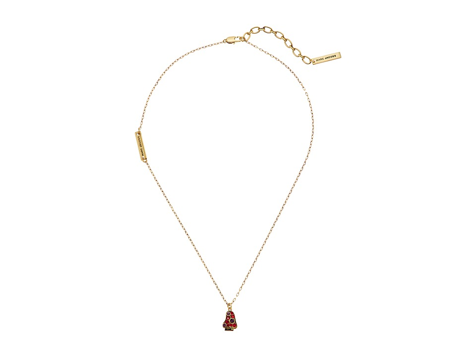 Marc Jacobs - Charms Wonderland Mushroom Pendant Necklace (Red Multi) Necklace