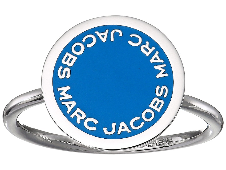 Marc Jacobs - Logo Disc Enamel Logo Disc Ring (Blue) Ring
