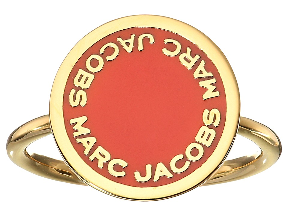 Marc Jacobs - Logo Disc Enamel Logo Disc Ring (Red) Ring
