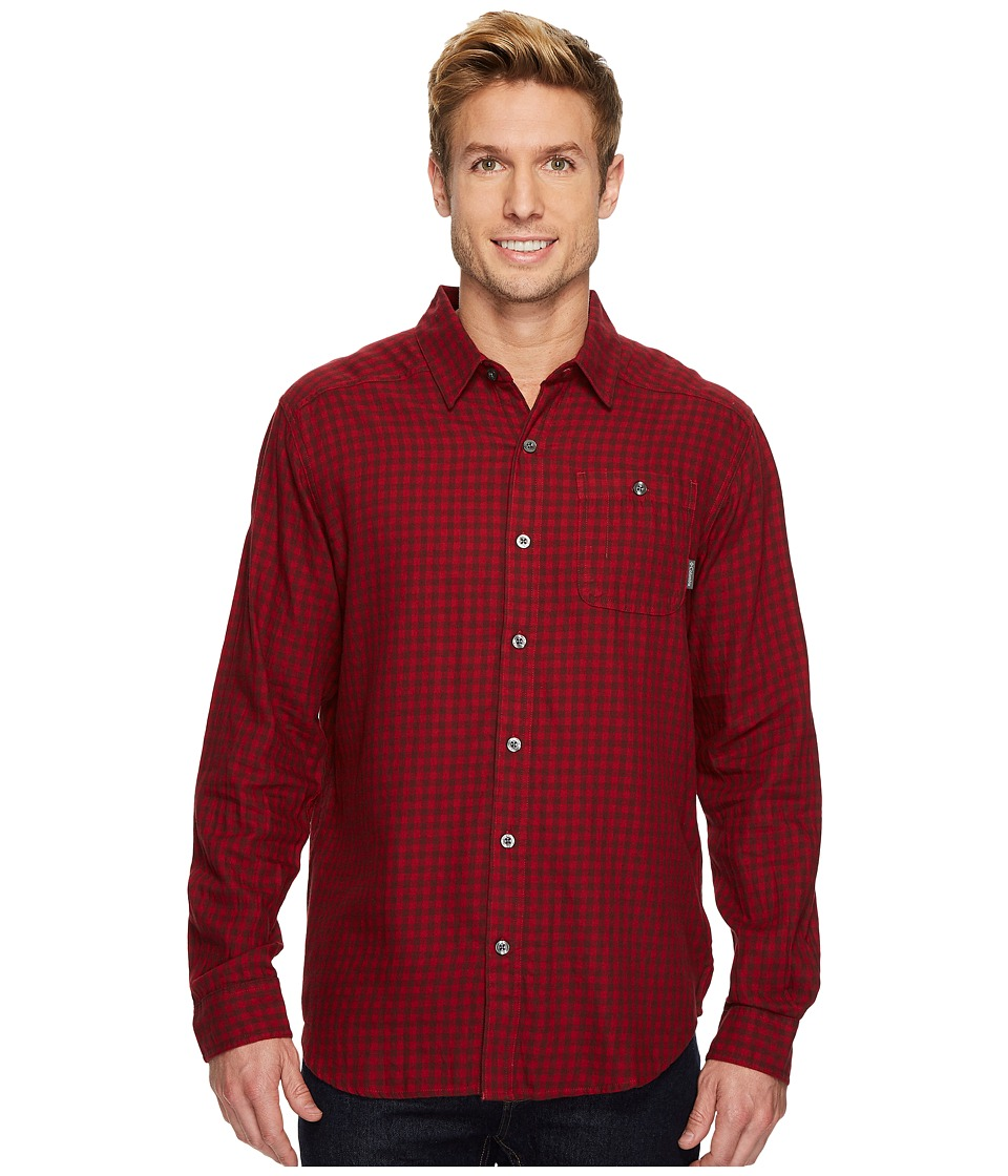 Columbia - Cornell Woodstm Flannel Long Sleeve Shirt (Beet Gingham) Men's Long Sleeve Button Up