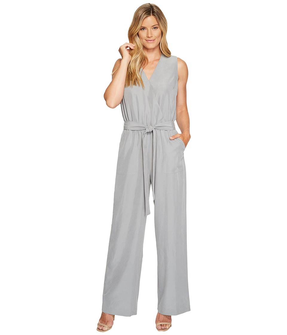 Vince Camuto - Sleeveless Belted Jumpsuit (Light Steel Grey) Women's Jumpsuit & Rompers One Piece