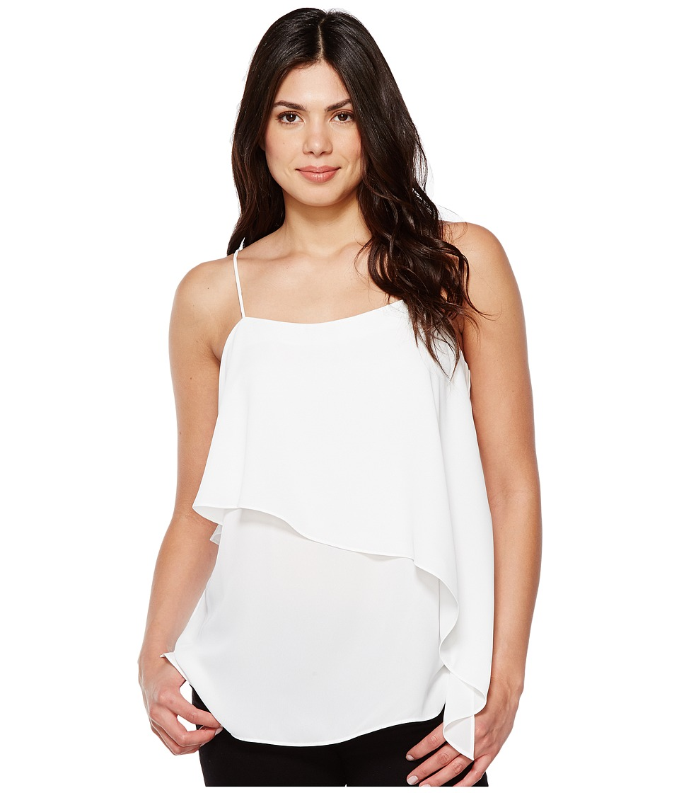 Vince Camuto - Cami w/ Asymmetrical Overlay (Ultra White) Women's Sleeveless