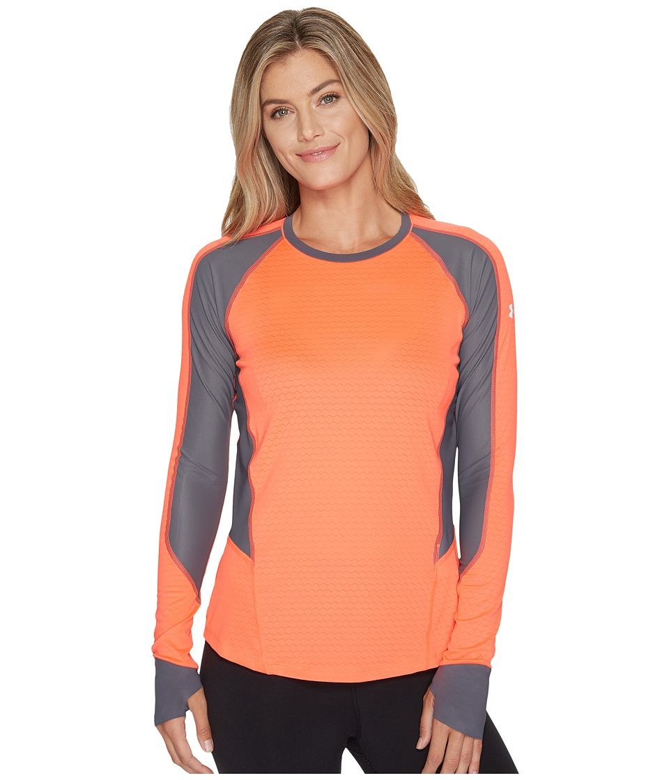 Under Armour - Allseason Reactor Run Long Sleeve (Marathon Red/Rhino Gray/Reflective) Women's Clothing