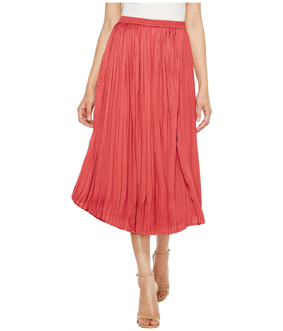 Vince Camuto Pleated Rumple Skirt (Sunset Rose) Women